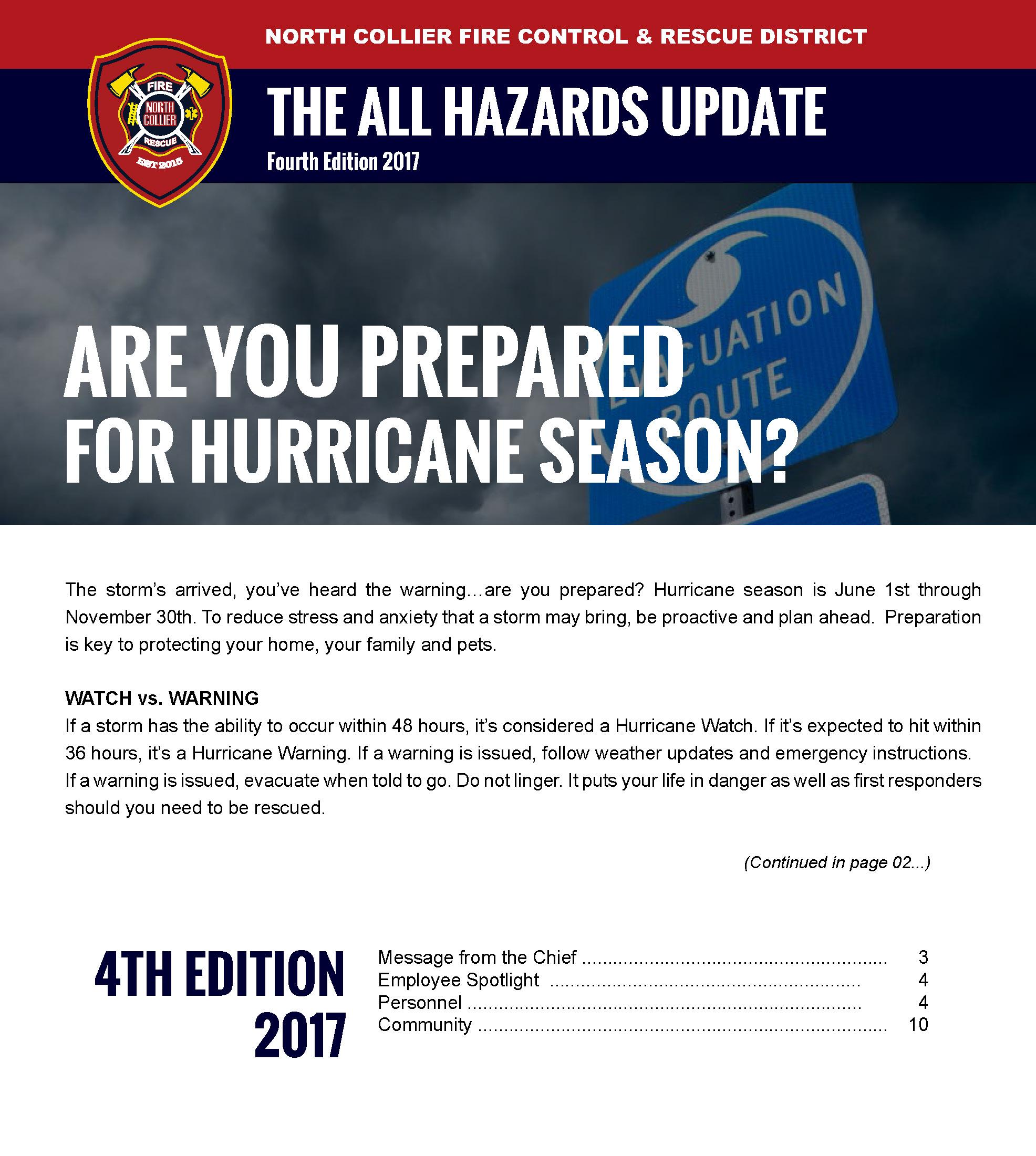 All Hazards Update Fourth Edition 2017