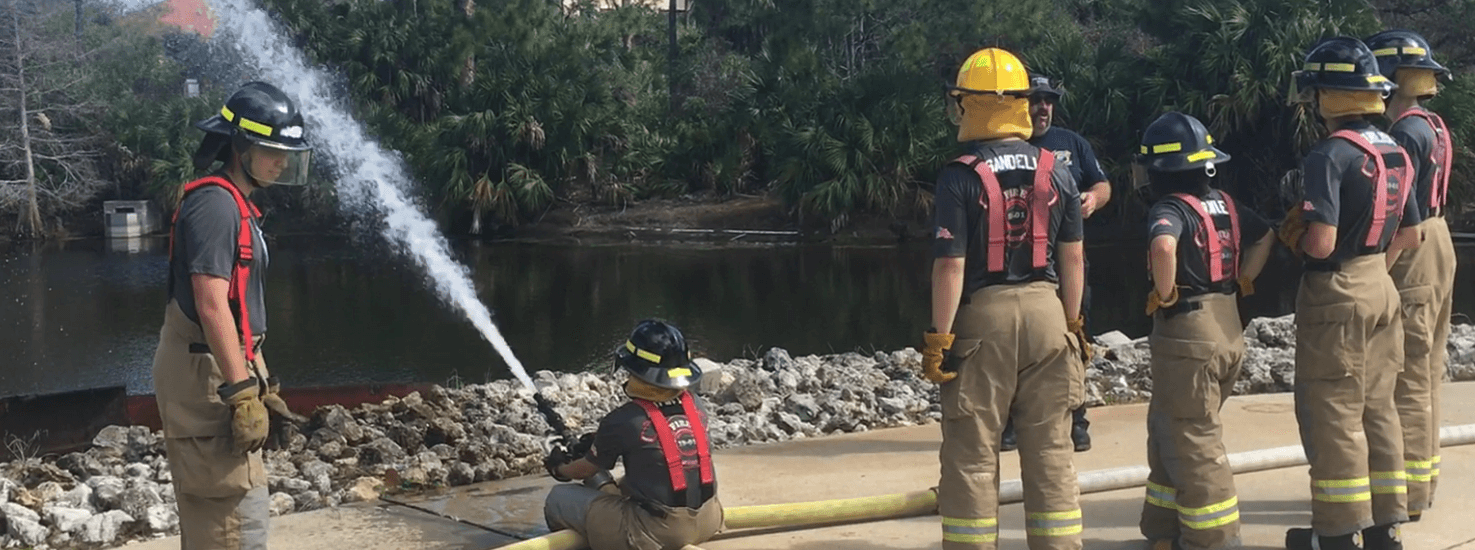 Firefighters train on hoseline