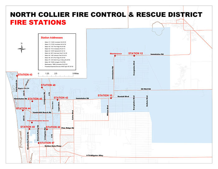 Collier County Wildfire Map.Stations North Collier Fire Rescue