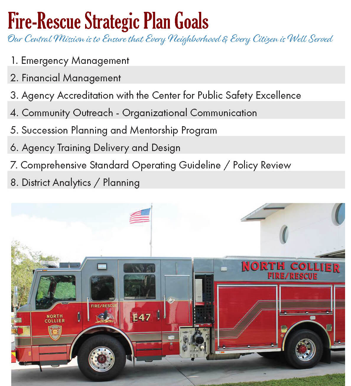 Strategic Planning Benefits Community's Fire Service