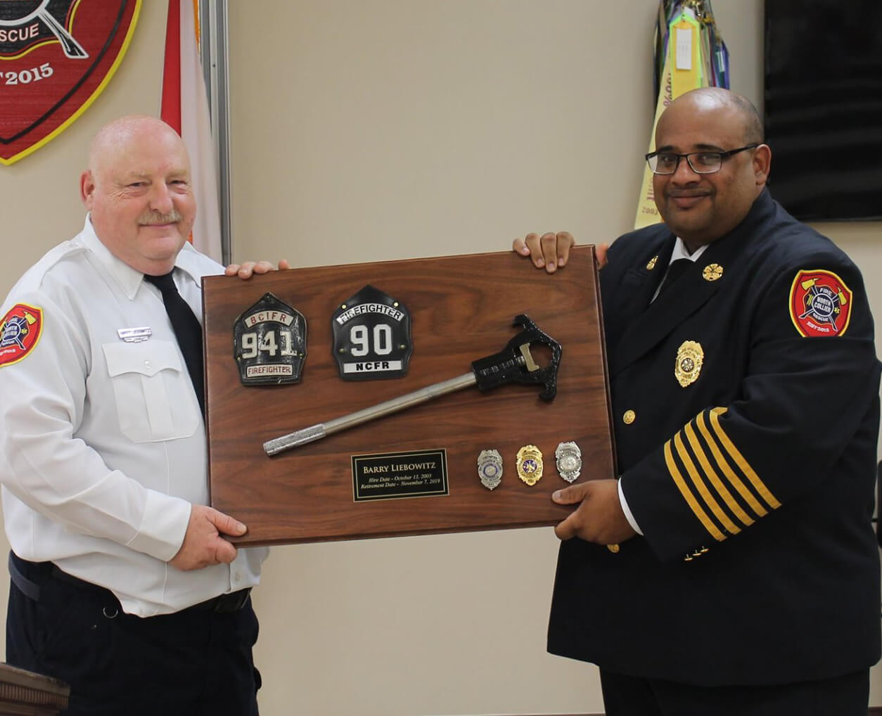 Firefighter Liebowitz Retires